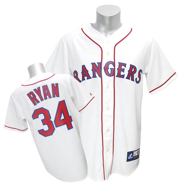 MLB レンジャーズ ノーラン・ライアン ユニフォーム ホーム1994 Majestic