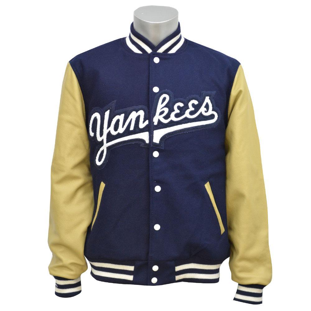 Leather yankees jacket