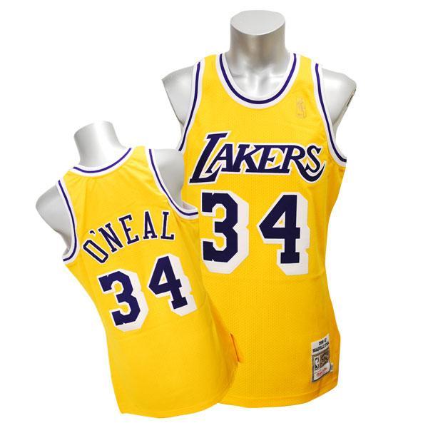 NBA レイカーズ シャキール・オニール ユニフォーム 1996-1997/ゴールド ミッチェル&ネス Throwback Authentic ユニフォーム【1811MNセール】