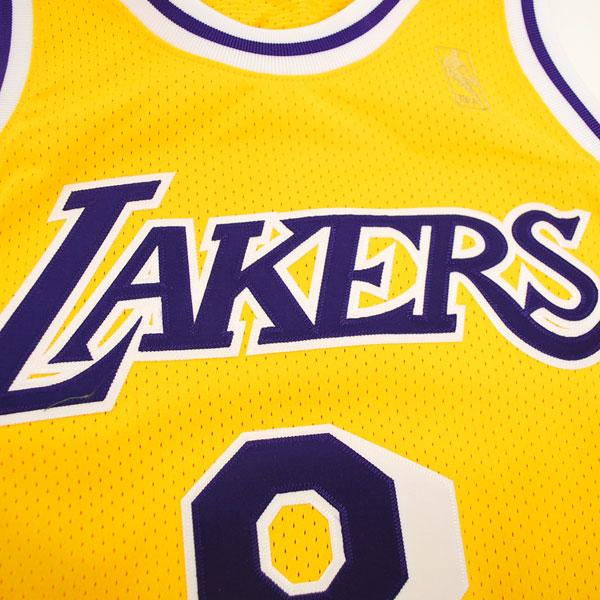 NBA Lakers  34 Shaquille O Neal Throwback Authentic uniform (1996-1997  gold)  Mitchell Ness 927066083