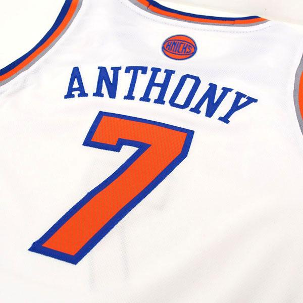 buy online 39c96 4bcbc 30 NBA Knicks #7 car Melo Anthony Youth Revolution Swingman uniform (home)  Adidas