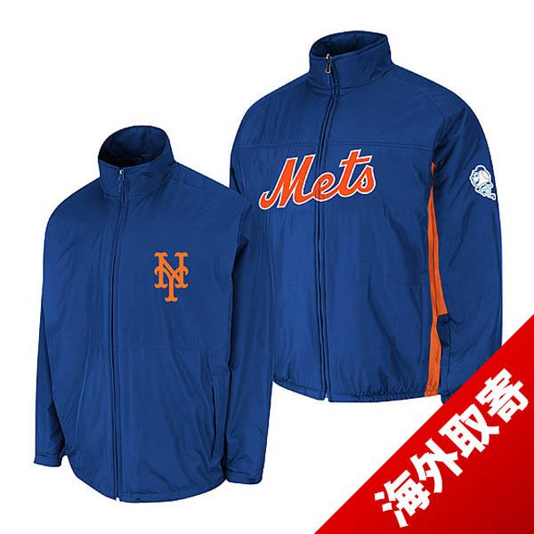 MLB Mets jacket blue majestic Authentic Triple Climate-in-1 On-Field jacket