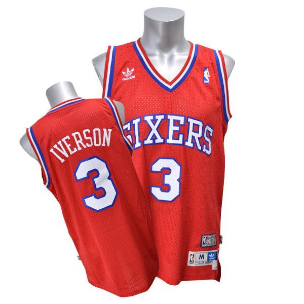 95f72d80fb69 MLB NBA NFL Goods Shop  NBA 76ers Allen Iverson Jersey 2002-2003HWC ...