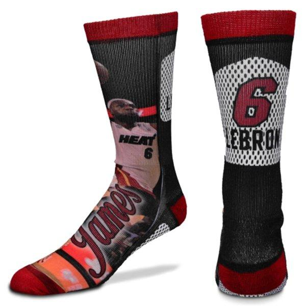 NBA heat # 6 LeBron James Player Promo Crew socks For Bare Feet