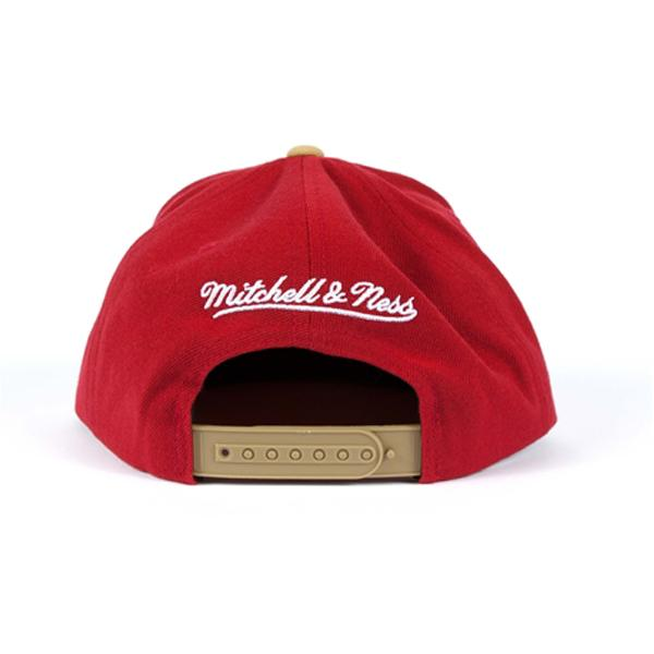 NFL 49ers cap / hat scarlet / gold Mitchel &ness Throwback XL Logo 2 Tone Snapback cap
