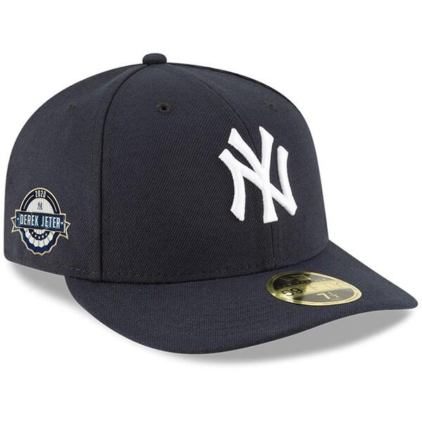 デレク ジーター 2020野球殿堂入り記念キャップ MLB ヤンキース キャップ ニューエラ Fitted NEW 選手着用モデル ネイビー 期間限定特別価格 2020殿堂入り記念 ロープロファイル 59FIFTY