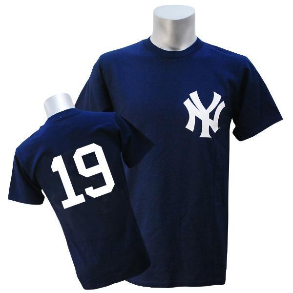 MLB ヤンキース #19 Tシャツ ネイビー マジェスティック New York Yankees Number Tシャツ【1910価格変更】【1112】