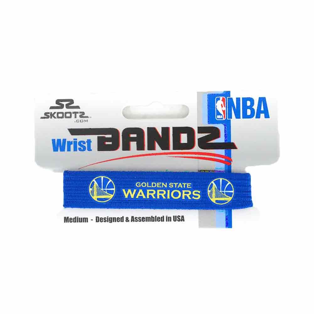 -NBA Golden State Warriors Single Bandz (blue) Skootz