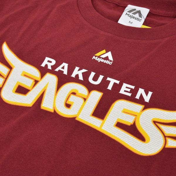 Rakuten Golden Eagles T shirt Jersey number none (crimson red) Majestic