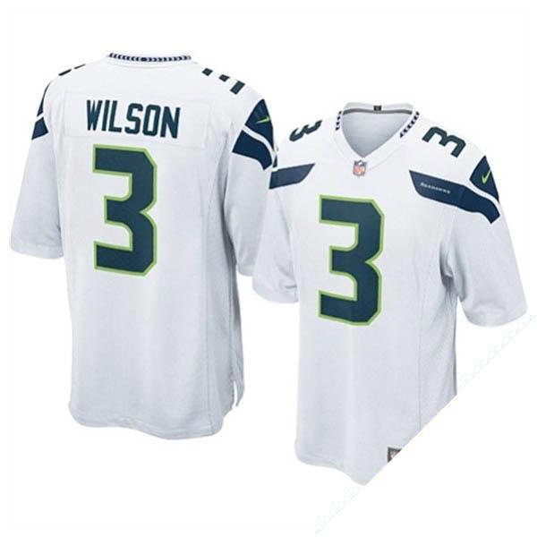 NFL シーホークス ラッセル・ウィルソン ユニフォーム ホワイト ナイキ Game ユニフォーム