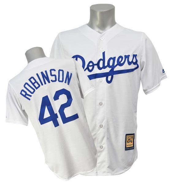 MLB ドジャース ジャッキー・ロビンソン ユニフォーム ホーム Majestic
