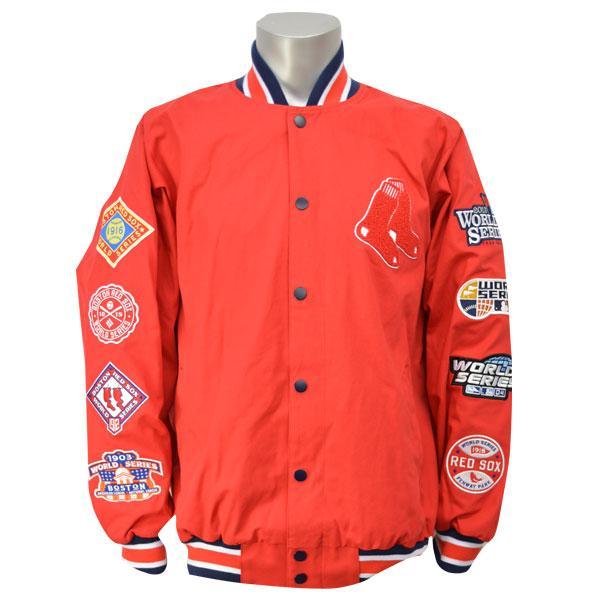 MLB レッドソックス ジャケット レッド ジースリー/G-III SET-UP MAN