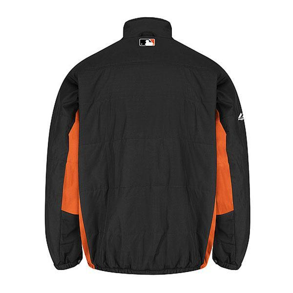 MLB Baltimore Orioles Authentic Double Climate On-Field jacket (black) Majestic