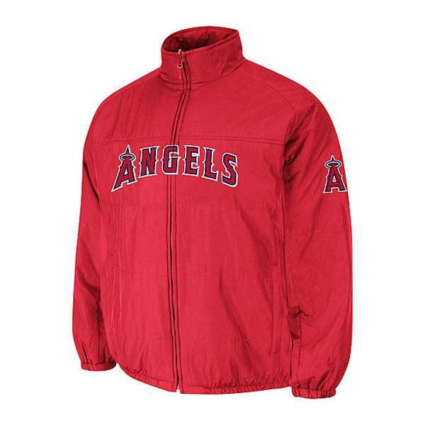 MLB Los Angeles Angels Authentic Double Climate On-Field jacket (red) Majestic