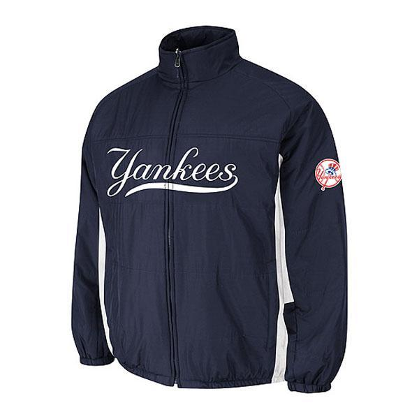 Majestic MLB New York Yankees Authentic Double Climate On-Field jacket (Navy)