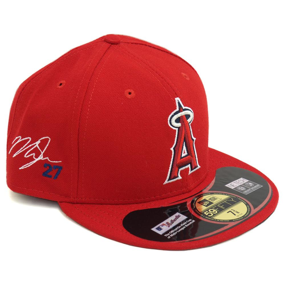 MLB Angels Mike trout   59 FIFTY player signature fitted cap new era New Era 4cb1a43295d