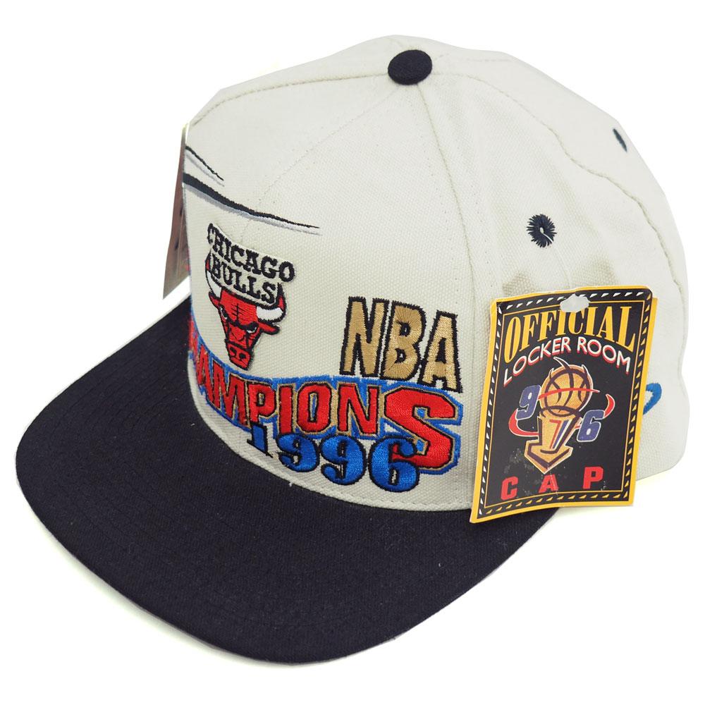 NBA ブルズ 1996 チャンピオン ロッカールーム キャップ/帽子 ロゴアスレチック/Logo Athletic レアアイテム