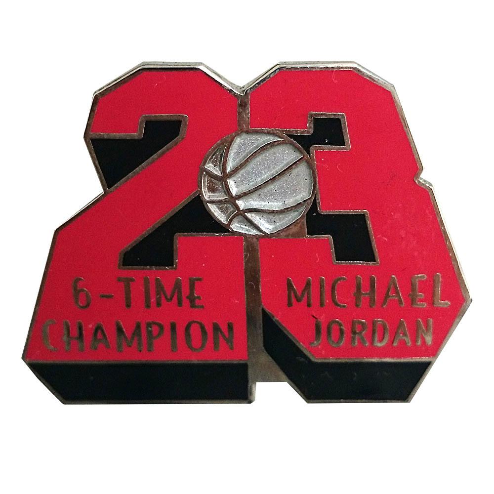 NBA ブルズ マイケル・ジョーダン 引退 記念 ピンバッジ 6タイム チャンピオン Upper Deck(アッパーデック) レアアイテム【1910価格変更】