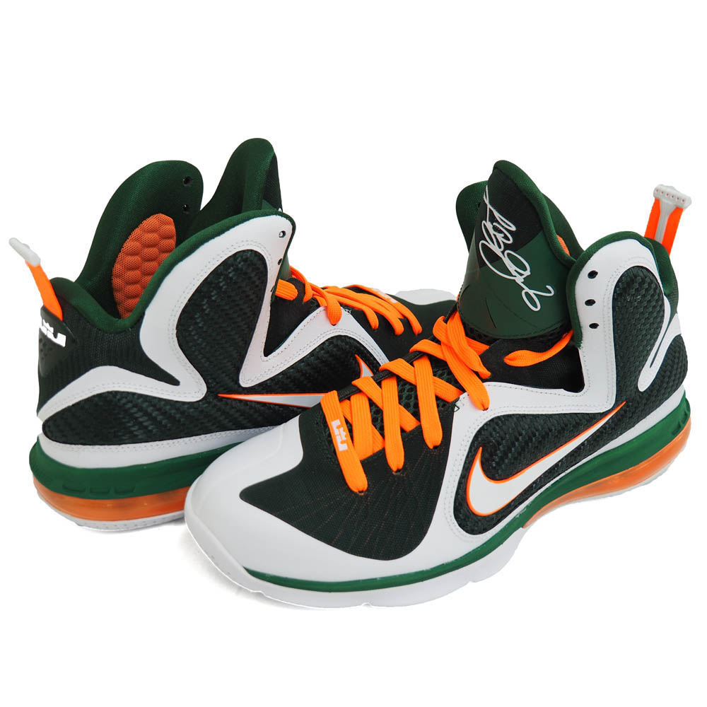 14b705058cb469 MLB NBA NFL Goods Shop  Nike LeBron   NIKE LEBRON LeBron 9 Miami hurricanes LEBRON  9 MIAMI HURRICANES white