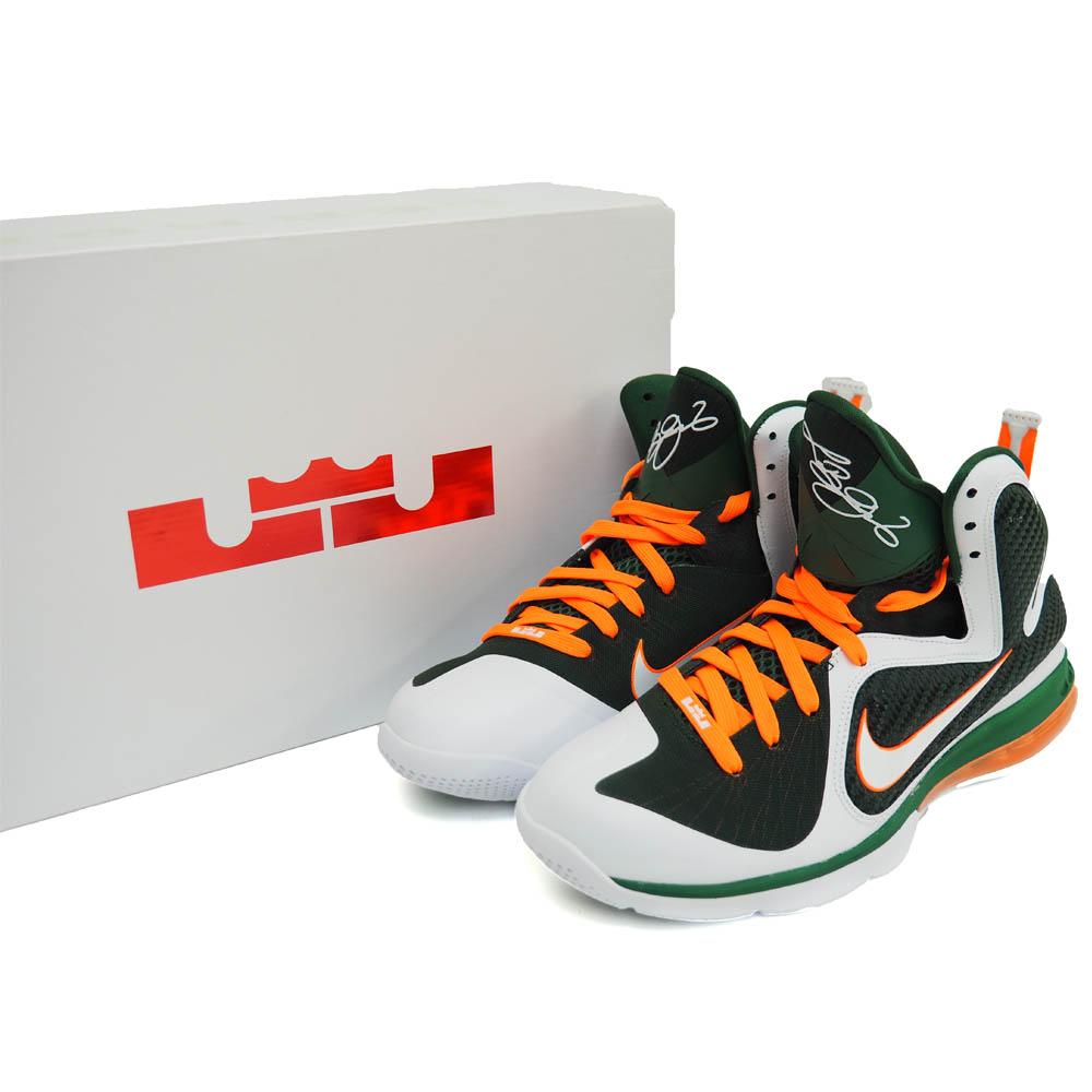 adbe44e35e2b Nike LeBron   NIKE LEBRON LeBron 9 Miami hurricanes LEBRON 9 MIAMI  HURRICANES white