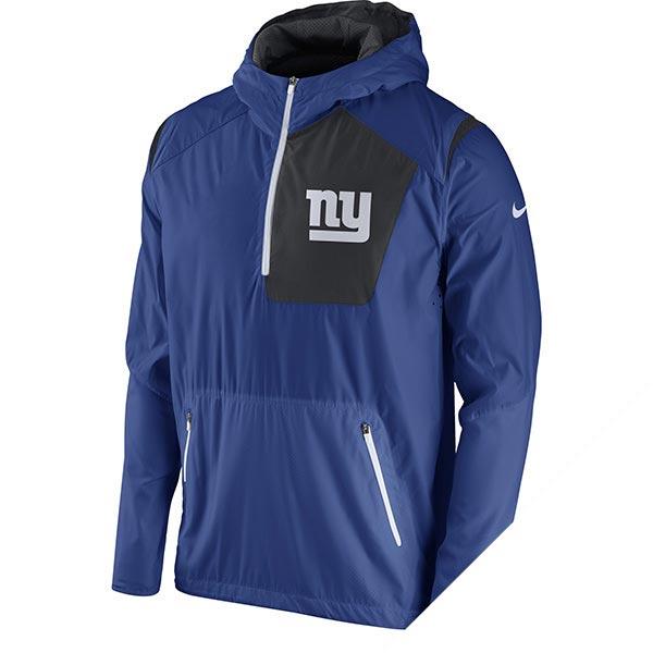 Order NFL Giants vapor speed fly rush half zip jacket Nike /Nike royal