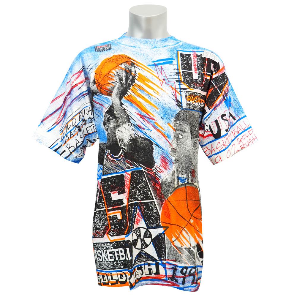USA代表 ドリームチーム 1992 マイケル・ジョーダン & マジック・ジョンソン Tシャツ