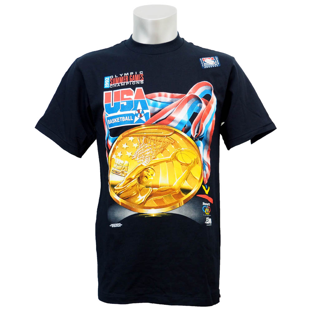 USA代表 ドリームチーム 1992 ゴールドメダル Tシャツ ブラック レアアイテム レアアイテム レアアイテム
