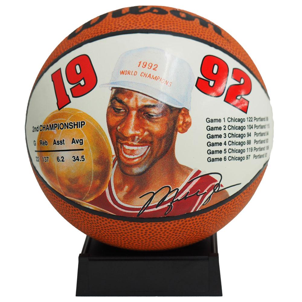 NBA ブルズ マイケル・ジョーダン ミニ バスケットボール 1992 ウィルソン/Wilson レアアイテム