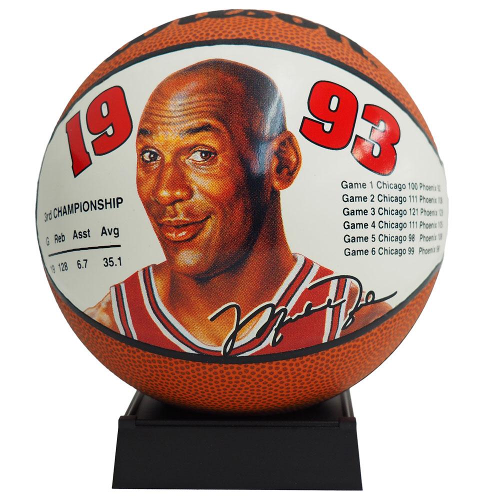 NBA ブルズ マイケル・ジョーダン ミニ バスケットボール 1993 ウィルソン/Wilson レアアイテム
