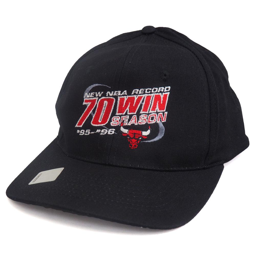NBA ブルズ 1995-96 70Win キャップ/帽子 KC ブラック レアアイテム