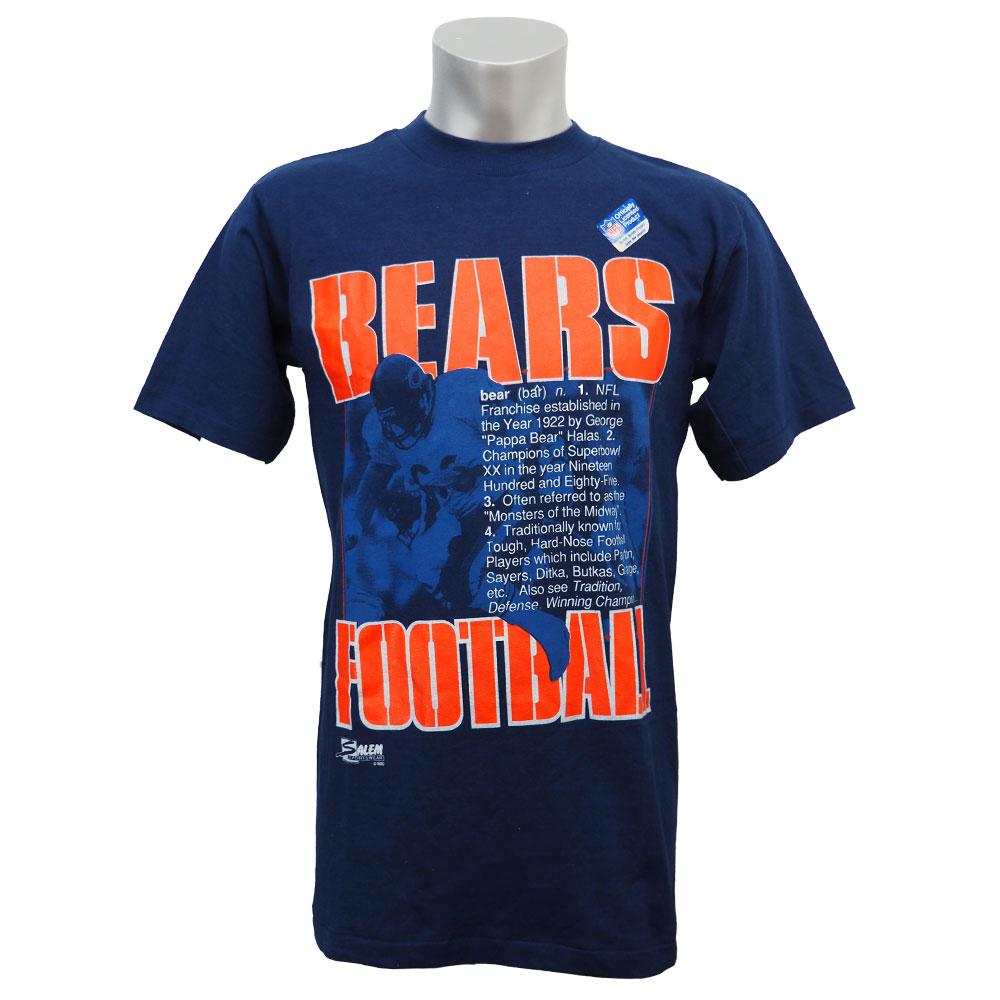NFL ベアーズ 1990 フットボール Tシャツ セーラム/Salem ネイビー レアアイテム