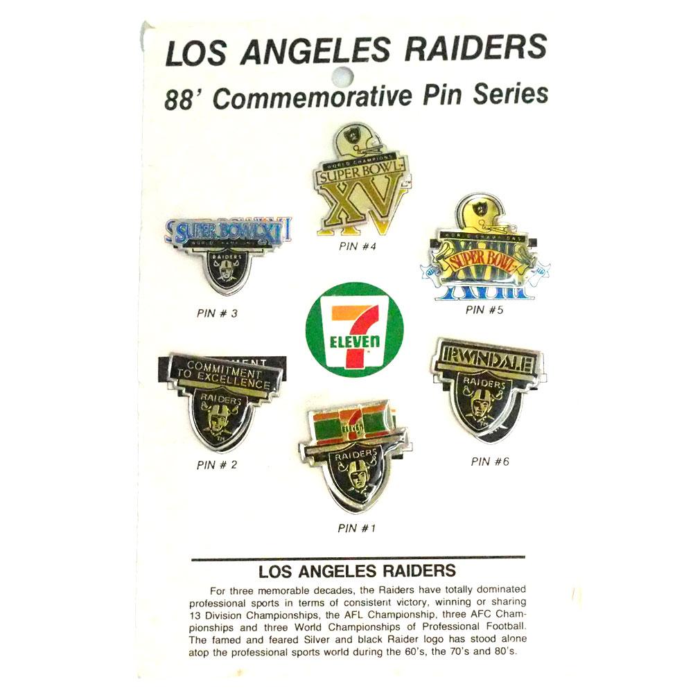 NFL ロサンゼルス・レイダーズ 1988 コメモラティブ ピンズ セット レアアイテム
