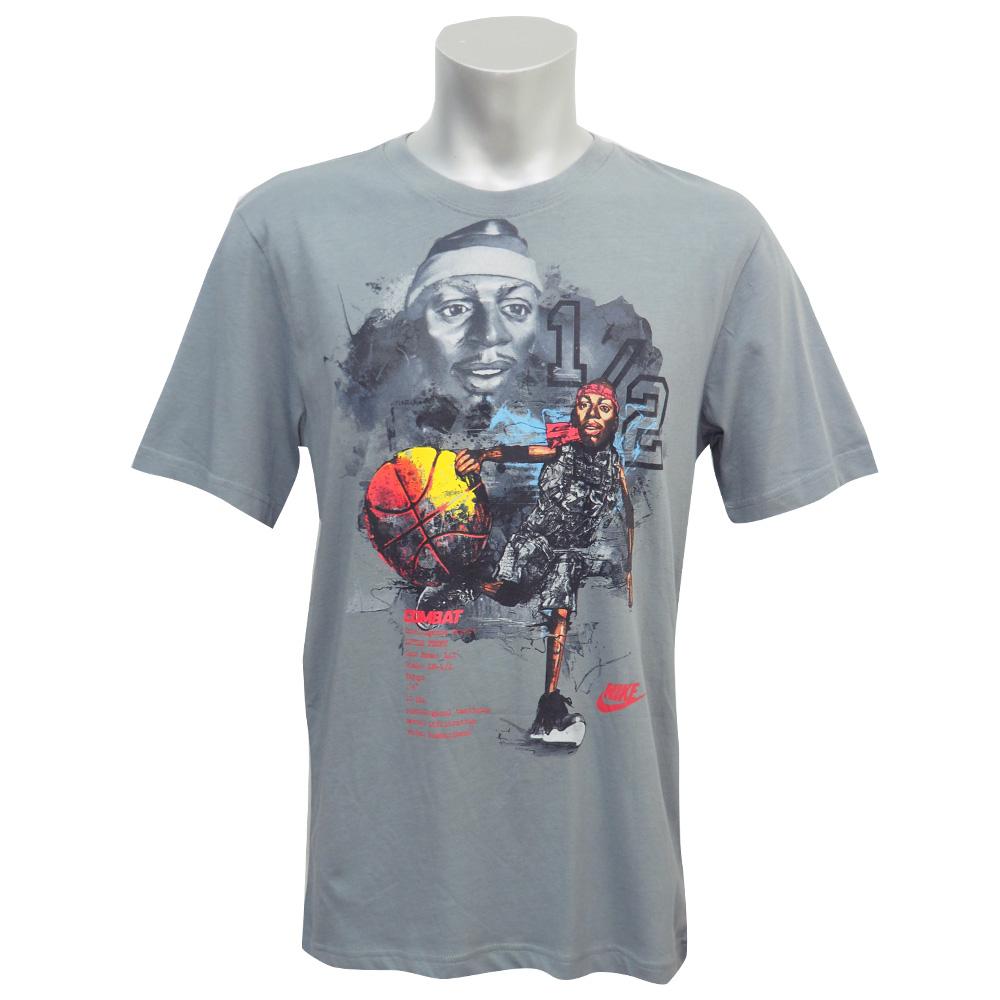 NIKE/ナイキ リル・ペニー フォームポジット コンバット 1/2 セント Tシャツ グレー レアアイテム