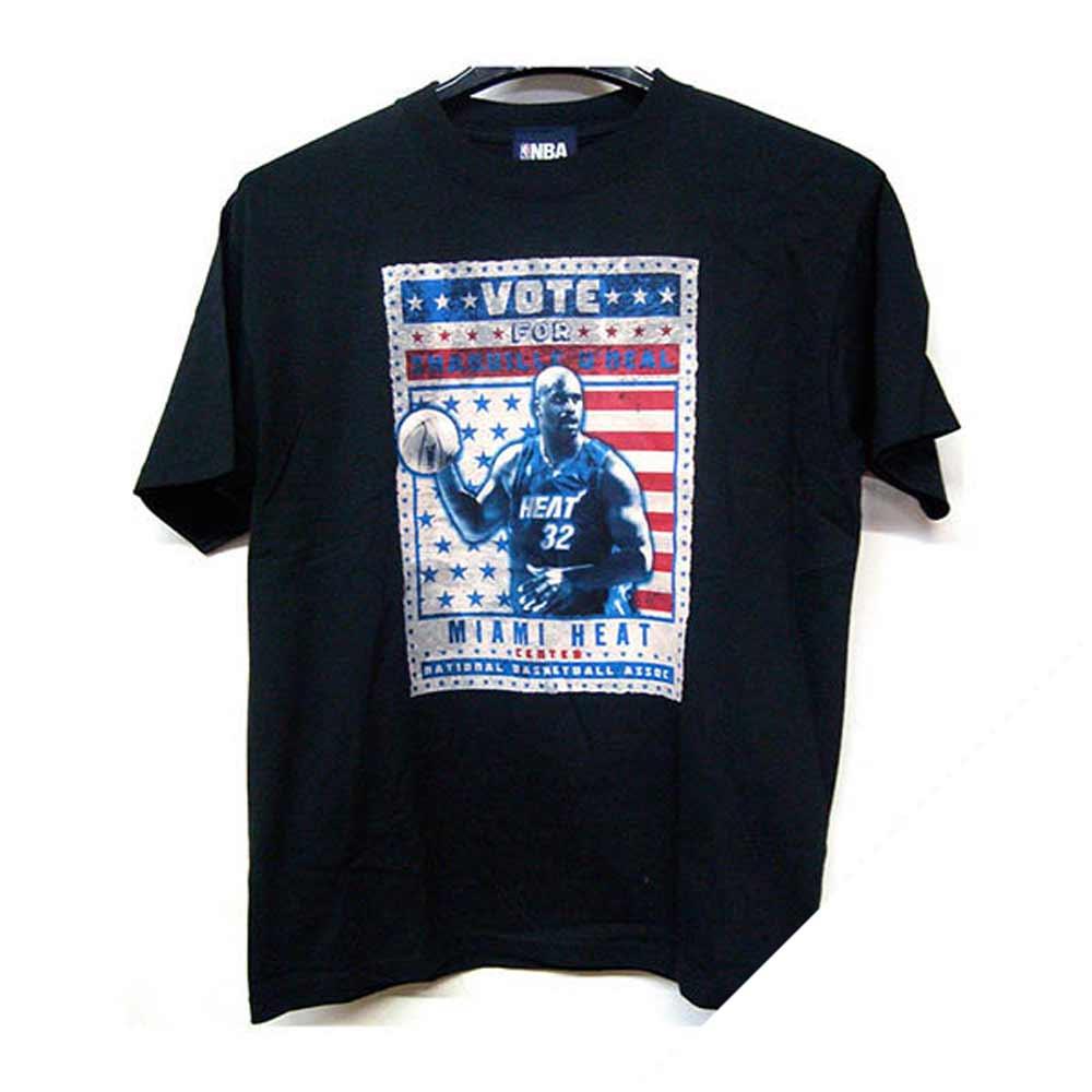 ヒート ボート フォー シャキール・オニール Tシャツ VOTE FOR Shaquile ONeal #34 T-SHIRT NBA ブラック レアアイテム