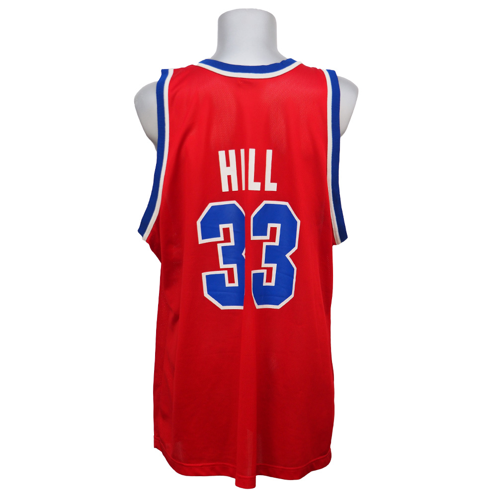 NBA ピストンズ グラント・ヒル レプリカユニフォーム Champion ロード/レッド レアアイテム