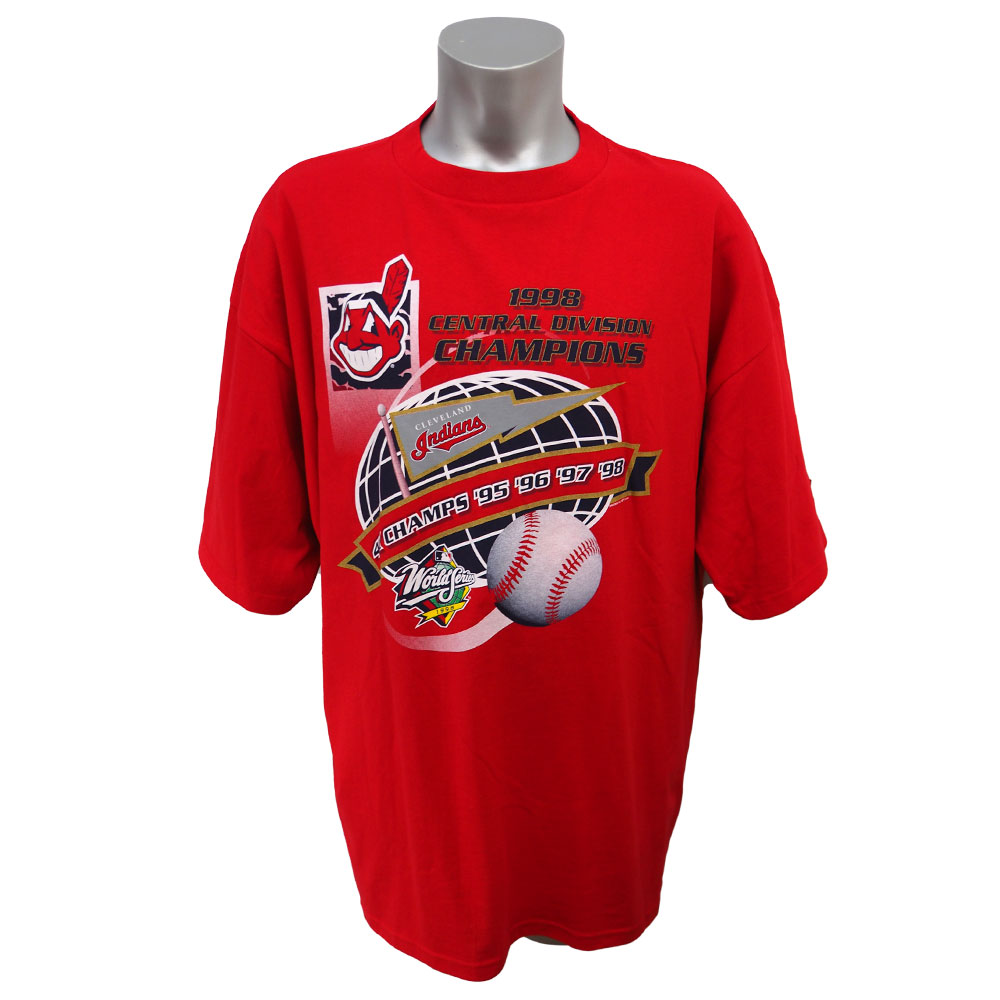 MLB インディアンス 1998年度 ディビジョン 優勝記念Tシャツ STARTER レッド レアアイテム レアアイテム