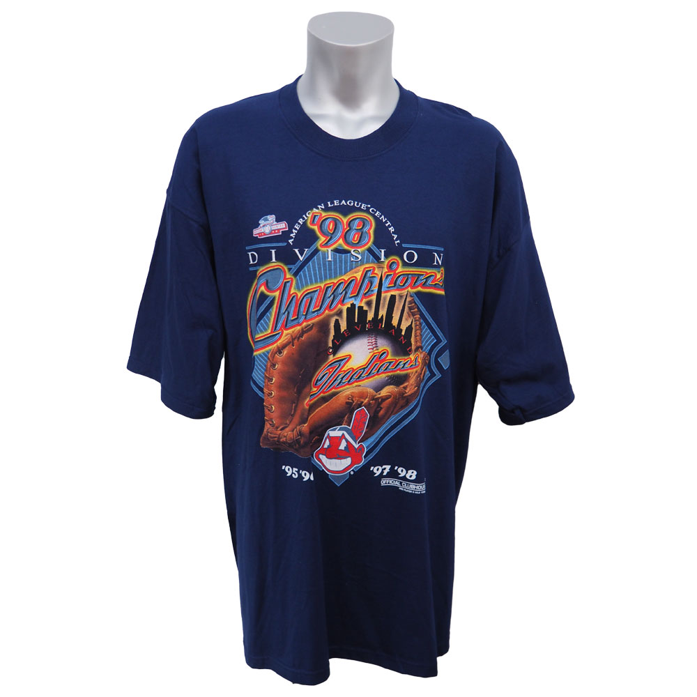 MLB インディアンス 1998年度 ディビジョン 優勝記念Tシャツ Pro Player ネイビー レアアイテム レアアイテム