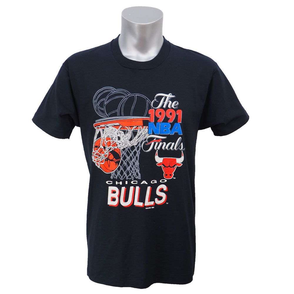 NBA ブルズ 1991年 ファイナル優勝記念 Tシャツ ブラック レアアイテム