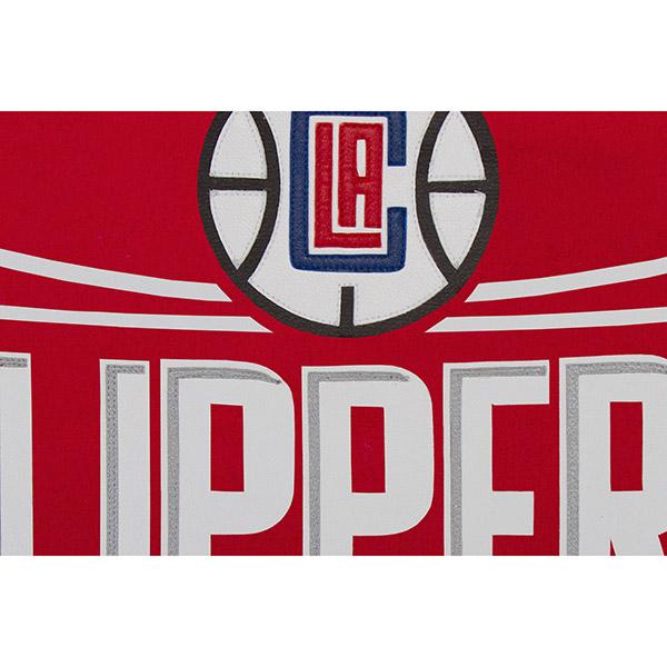 NBA 快船隊國內噸羊毛 & 皮革夾克 JH 設計紅