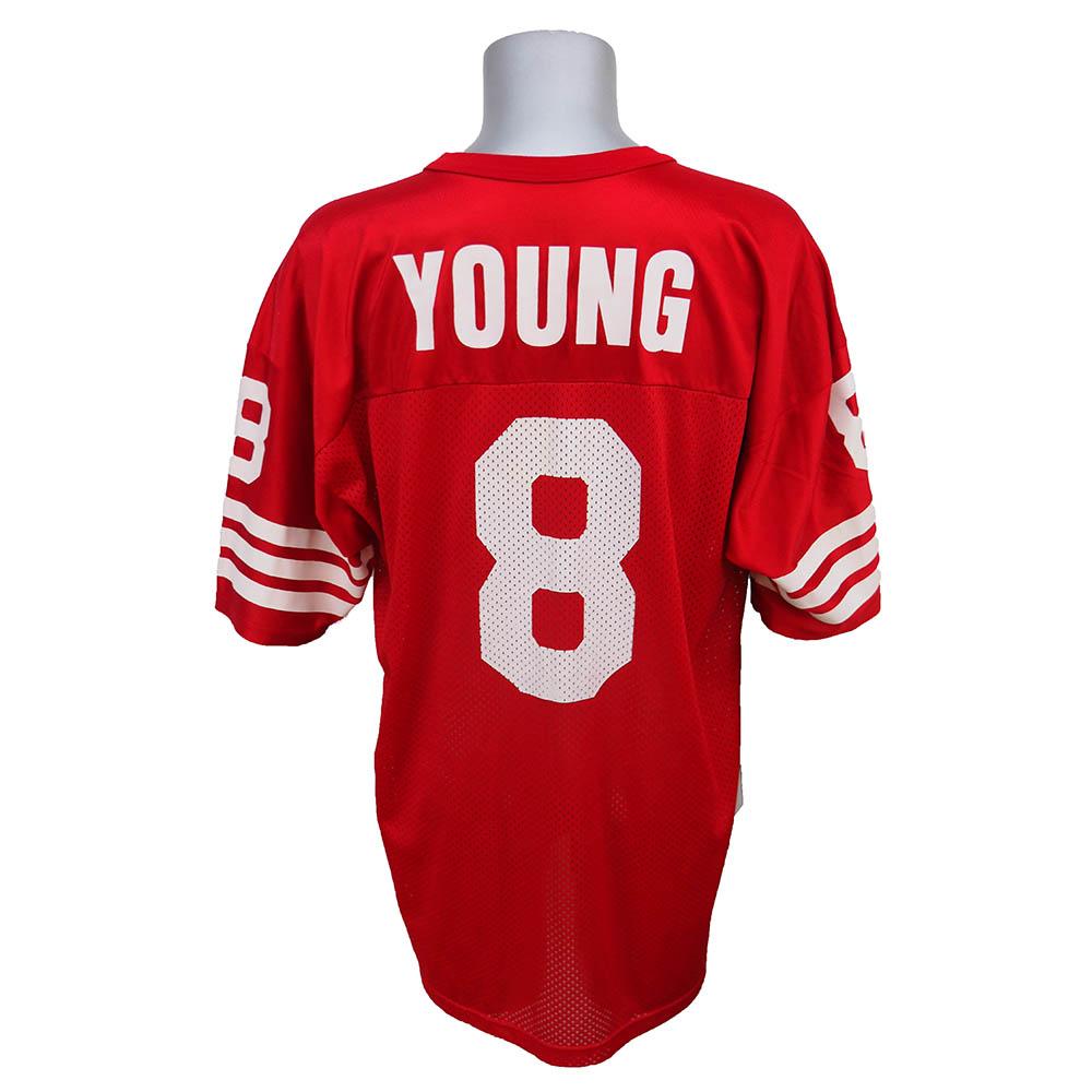 スーパーボウル進出 NFL 49ers スティーブ・ヤング レプリカユニフォーム Champion/チャンピオン レッド レアアイテム