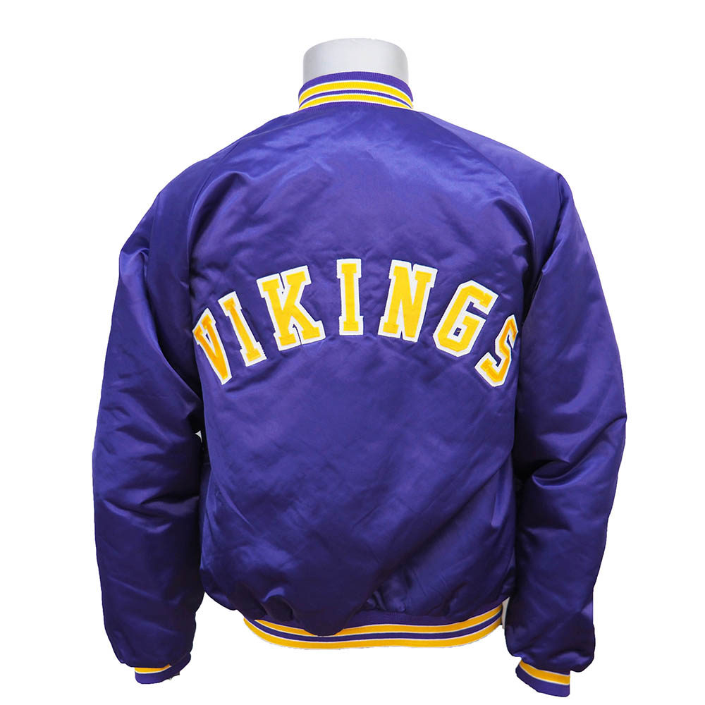 premium selection b3c5e 2a7c8 NFL Vikings authentic satin use jacket Chalk Line/ chalk line purple rare  item