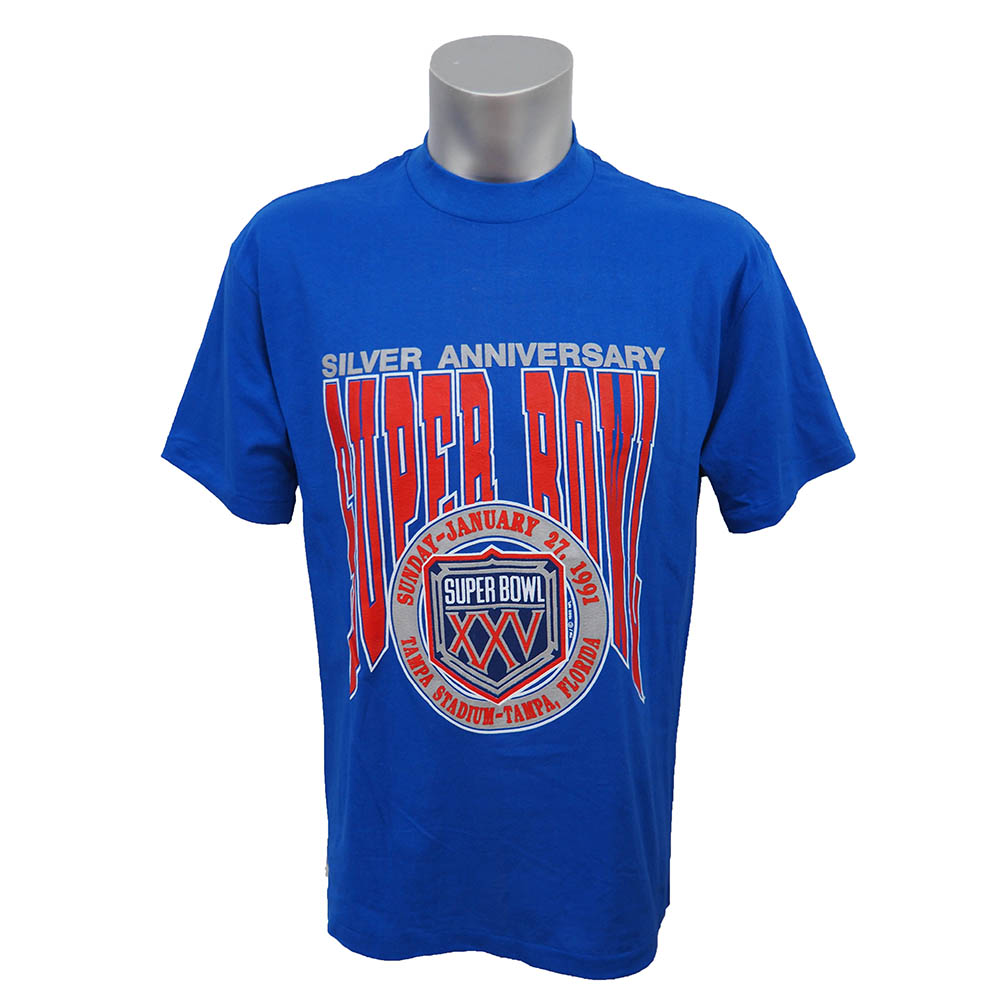 NFL 1991年 第25回 スーパーボウル 開催記念Tシャツ Trench ロイヤル レアアイテム