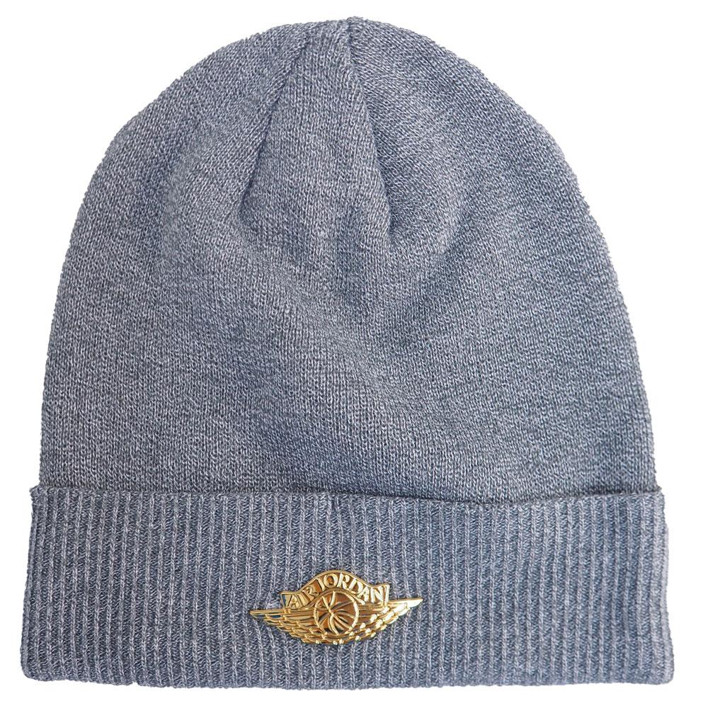 ナイキ ジョーダン/NIKE JORDAN ジャンプマン ビーニー カフニット キャップ 帽子 グレー