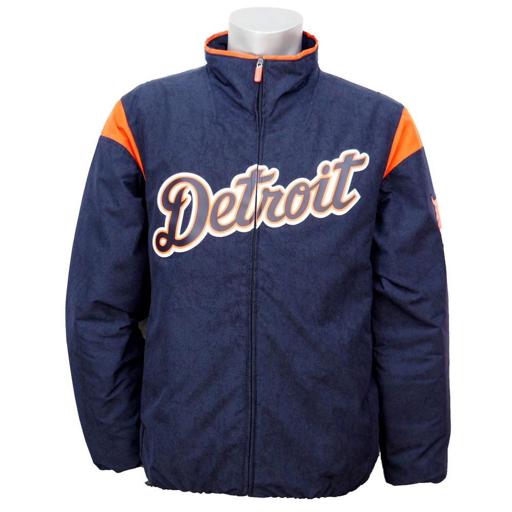 MLB タイガース オーセンティック オンフィールド プレミア ジャケット マジェスティック/Majestic Navy/Orange