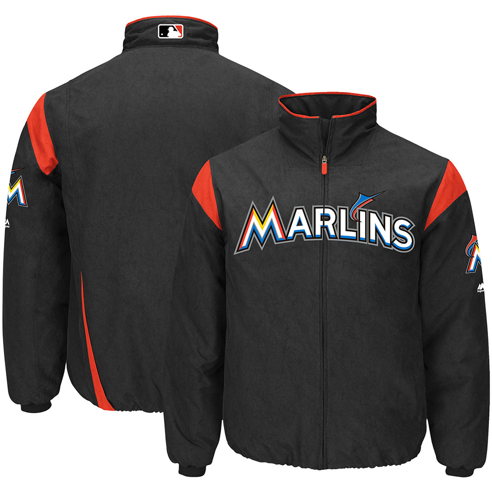 MLB マーリンズ オーセンティック オンフィールド プレミア ジャケット マジェスティック/Majestic ブラック