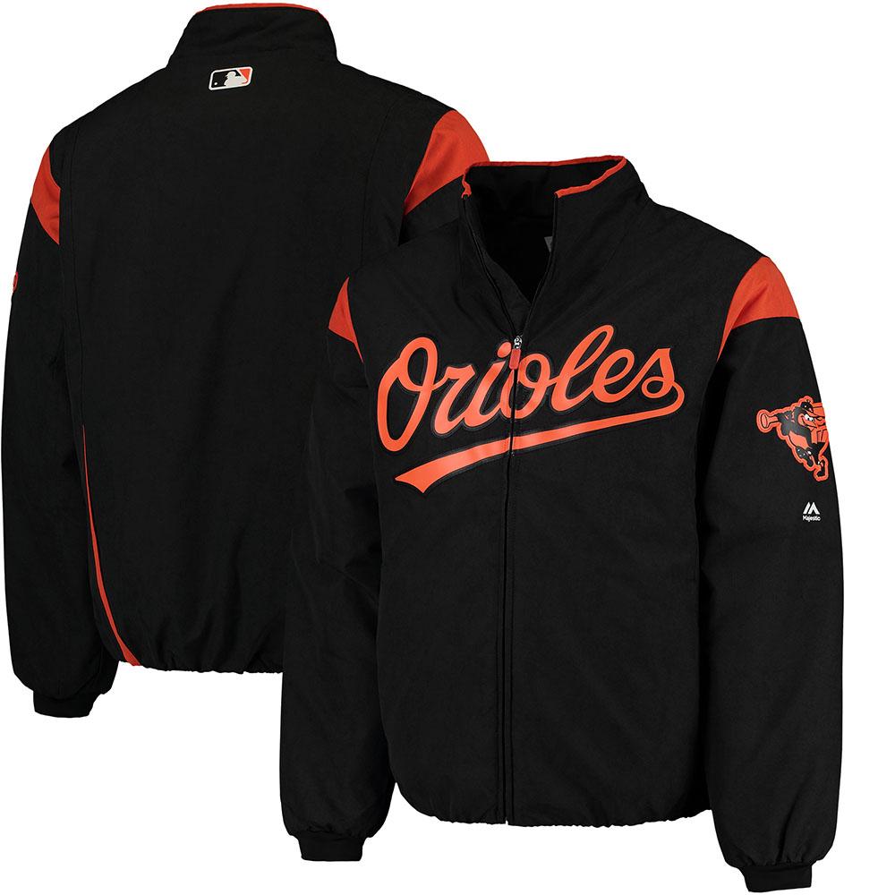 MLB オリオールズ オーセンティック オンフィールド プレミア ジャケット マジェスティック/Majestic ブラック