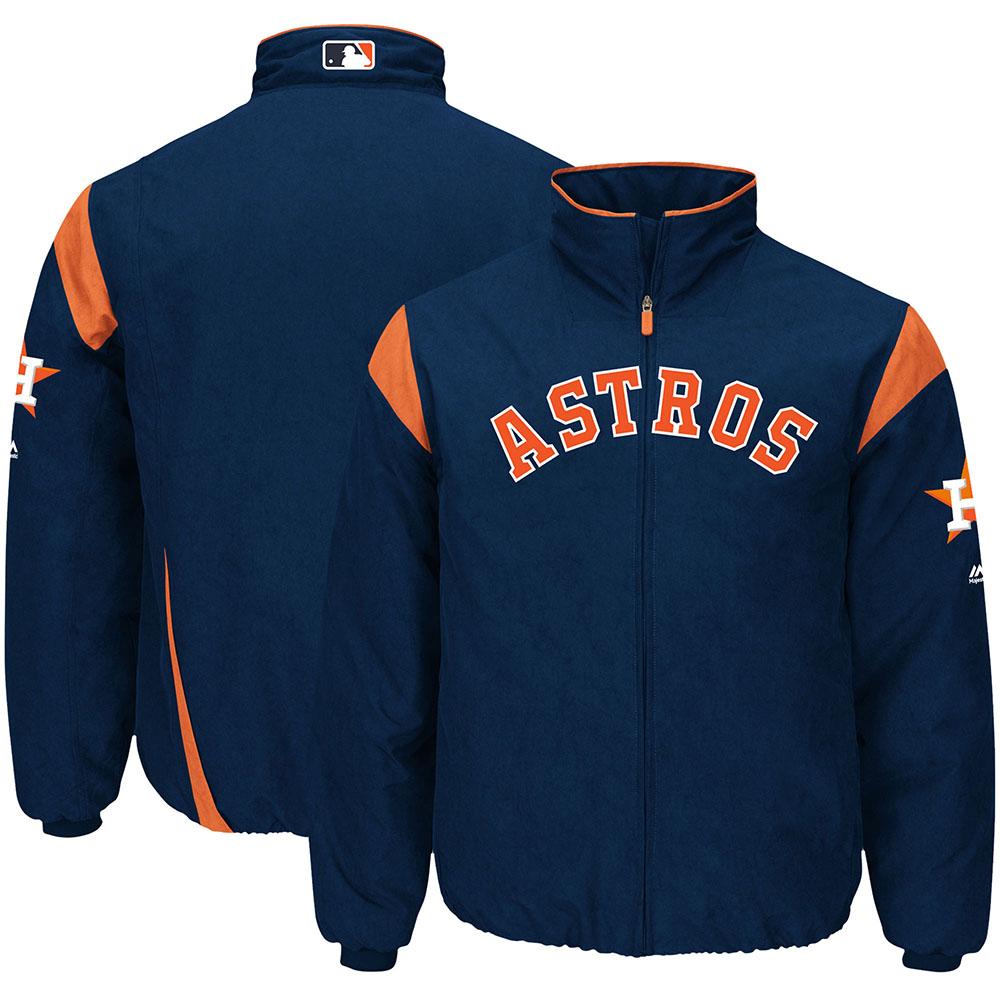 MLB アストロズ オーセンティック オンフィールド プレミア ジャケット マジェスティック/Majestic ネイビー