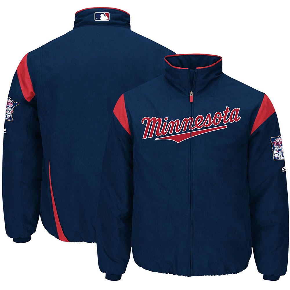 MLB ツインズ オーセンティック オンフィールド プレミア ジャケット マジェスティック/Majestic ネイビー