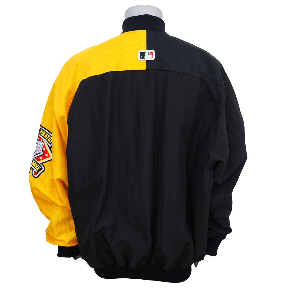 MLB pirates Diamond collection dugout wind jacket Starter /STARTER Black / Yellow