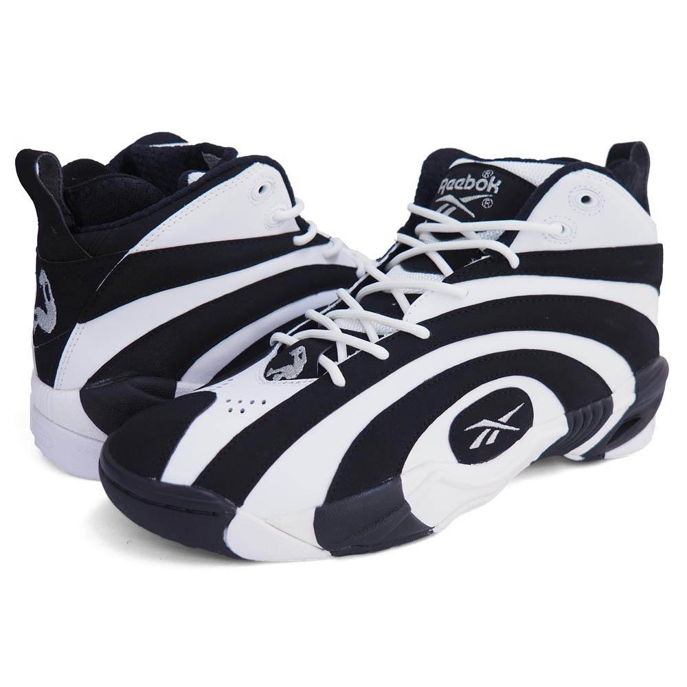 top quality exquisite design online sale NBA Shaquille O'Neal shack Gnosis Shaqnosis V53185 Reebok /Reebok black /  white basketball shoes rare item